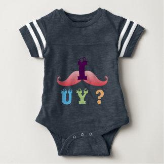 mustache funny friend family shower party laugh baby bodysuit