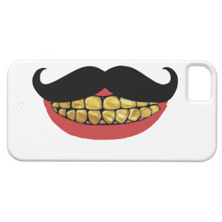 Mustache Gold Smile Barely There iPhone 5 Case