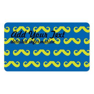Mustache Green Blue Business Card
