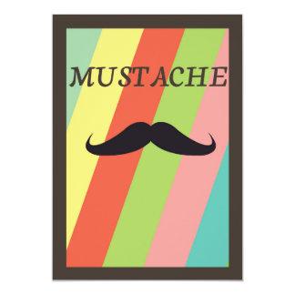 Mustache Greeting Card 13 Cm X 18 Cm Invitation Card