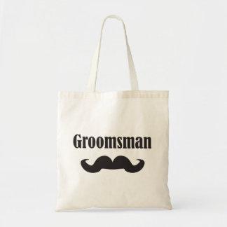 Mustache Groomsman Budget Tote Bag