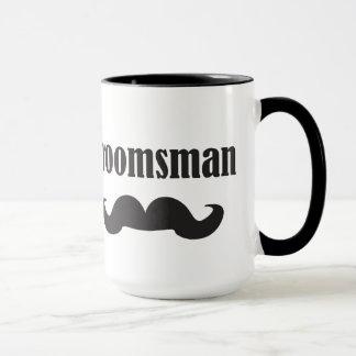 Mustache Groomsman Mug
