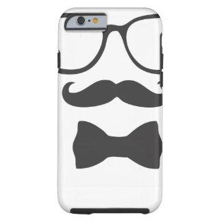 Mustache Hipster Bowtie Glasses Tough iPhone 6 Case