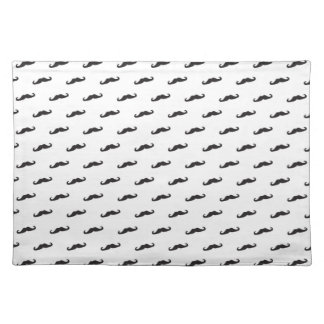 Mustache hipster pattern 2 placemats