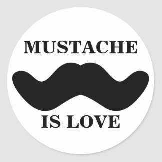 'Mustache Is Love' Sticker