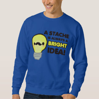 Mustache Lightbulb Sweatshirt