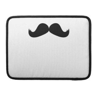 "Mustache Macbook Pro 13"" Rickshaw Flap Sleeve Sleeves For MacBook Pro"