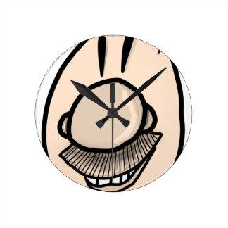 Mustache man round clock