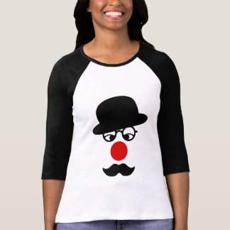 Mustache Man with Hat and Clown Nose T-shirt