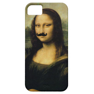 Mustache Mona Lisa Barely There iPhone 5 Case