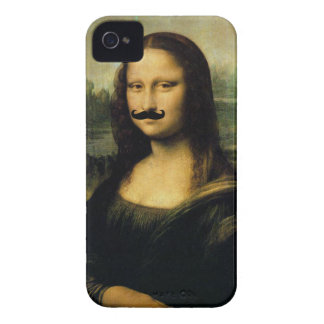 Mustache Mona Lisa Case-Mate iPhone 4 Case
