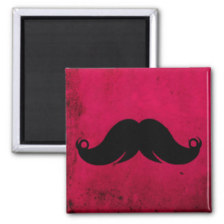 Mustache Moustache on Grunge Background Refrigerator Magnets