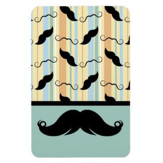 Mustache Moustache Retro Design Rectangle Magnets
