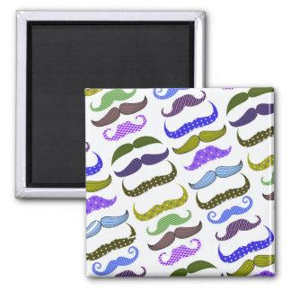 Mustache Moustache Stache Pattern Magnet