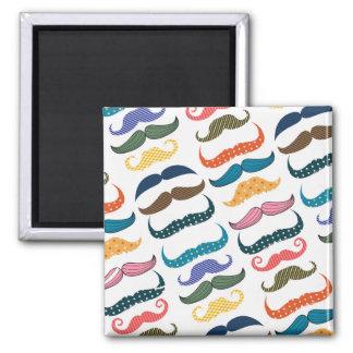 Mustache Moustache Stache Pattern Fridge Magnets