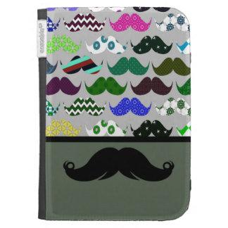 Mustache Moustache Stache - Very Retro! Kindle 3 Cover