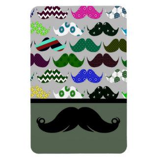 Mustache Moustache Stache - Very Retro! Rectangle Magnet