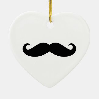 Mustache Mustache, Moustache design Ceramic Heart Decoration