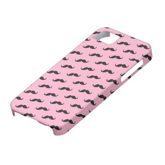 Mustache mustaches funny pink black iPhone 5 case