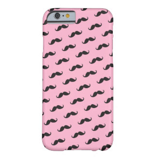 Mustache mustaches funny pink black iPhone 6 case