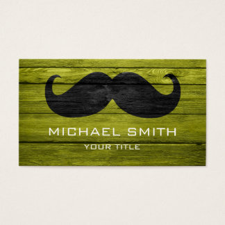Mustache on Wood Texture #8 Business Card