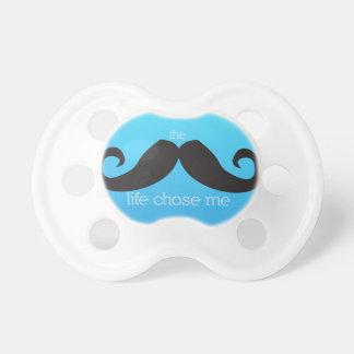 Mustache Pacifier -- The Stache Life Chose Me