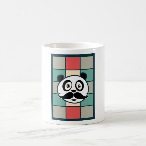 Mustache Panda Coffee Mugs
