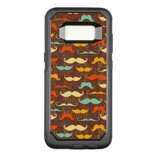Mustache pattern OtterBox commuter samsung galaxy s8 case