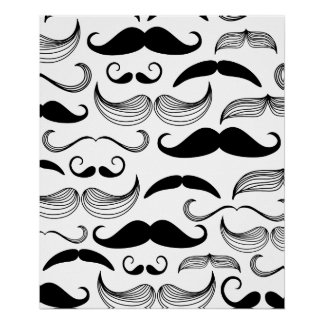 Mustache Pattern Poster