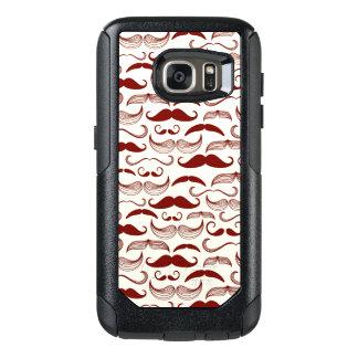 Mustache pattern, retro style 3 OtterBox samsung galaxy s7 case