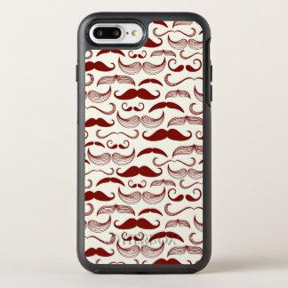 Mustache pattern, retro style 3 OtterBox symmetry iPhone 7 plus case