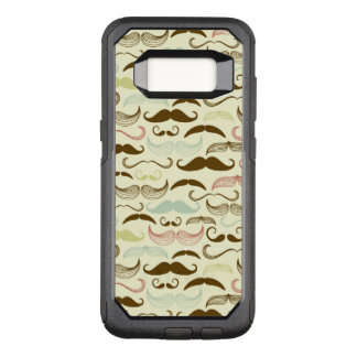 Mustache pattern, retro style 4 OtterBox commuter samsung galaxy s8 case