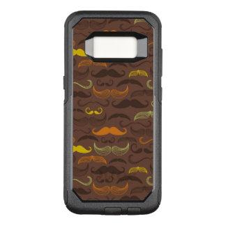Mustache pattern, retro style 5 OtterBox commuter samsung galaxy s8 case