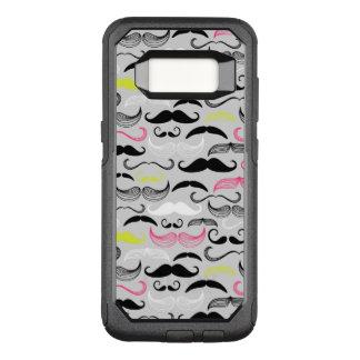 Mustache pattern, retro style OtterBox commuter samsung galaxy s8 case