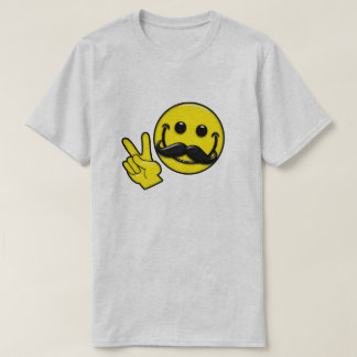 Mustache Peace Smiley T-Shirt