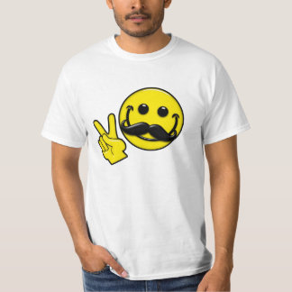 Mustache Peace Smiley Tshirts