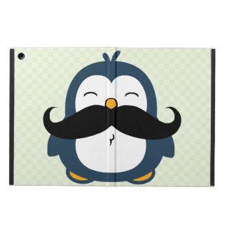 Mustache Penguin Cartoon iPad Air Covers