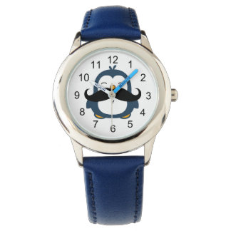 Mustache Penguin Watch