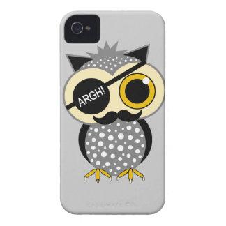 mustache pirate owl iPhone 4 Case-Mate cases