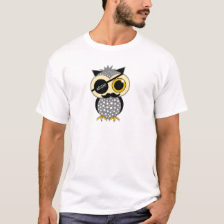 mustache pirate owl T-Shirt