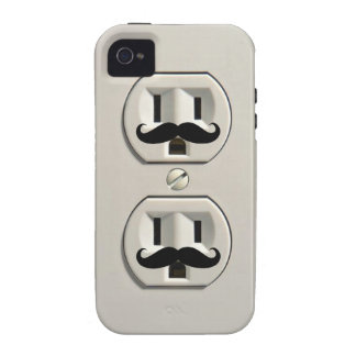 Mustache power outlet vibe iPhone 4 case