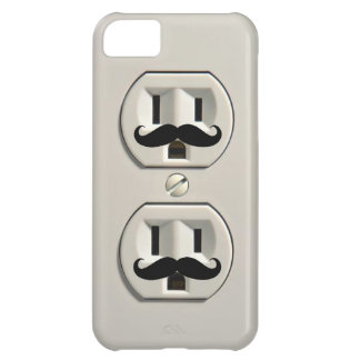 Mustache power outlet iPhone 5C cases