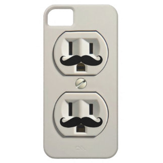 Mustache power outlet iPhone 5 cover