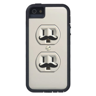 Mustache power outlet iPhone 5/5S cases