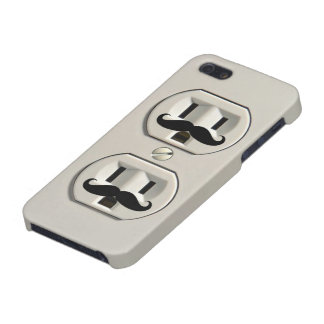 Mustache power outlet case for iPhone 5/5S