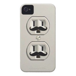 Mustache power outlet Case-Mate iPhone 4 cases