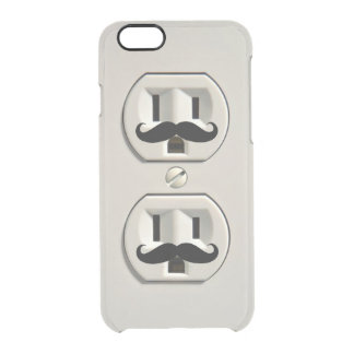 Mustache power outlet clear iPhone 6/6S case