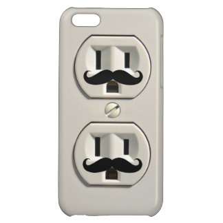 Mustache power outlet iPhone 5C cover