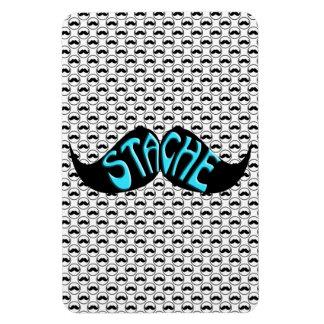 Mustache Retro Black Handlebar Pattern Flexible Magnet