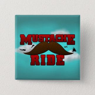 Mustache Ride 15 Cm Square Badge